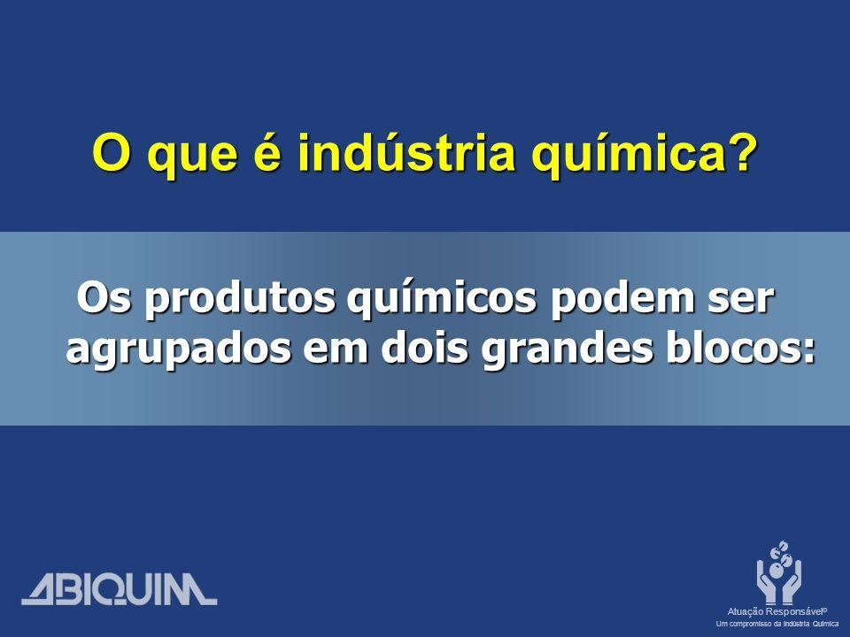 Atuação Responsável ® Um compromisso da Indústria Química O que é indústria química.
