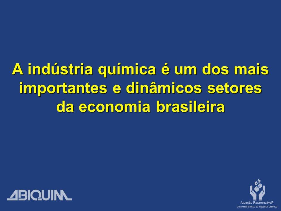 Atuação Responsável ® Um compromisso da Indústria Química A indústria química é um dos mais importantes e dinâmicos setores da economia brasileira