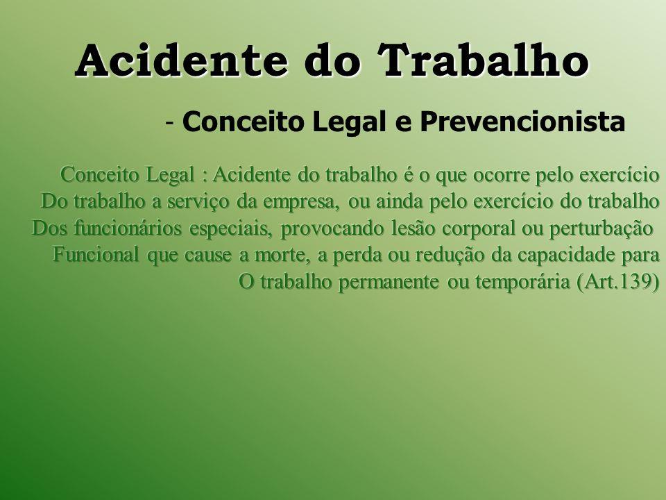 Consideram-se acidente do trabalho I.Doença profissional, assim entendida a produzida ou desencadeada pelo exercício de trabalho peculiar a determinada atividade e constante da relação das Doenças Profissionais ou do Trabalho.