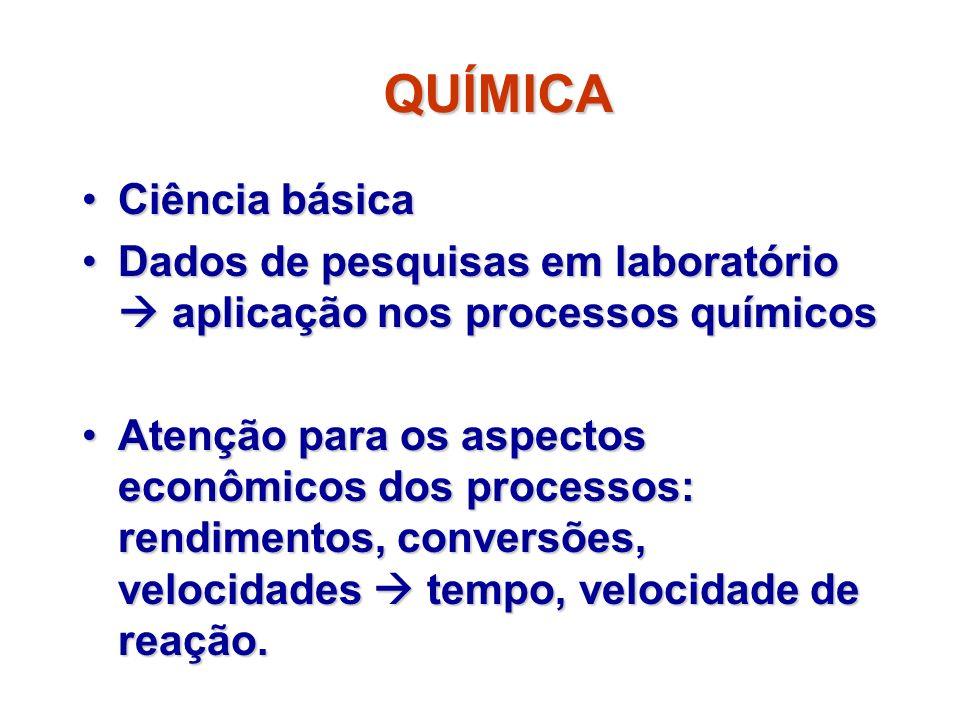 QUÍMICA Ciência básicaCiência básica Dados de pesquisas em laboratório aplicação nos processos químicosDados de pesquisas em laboratório aplicação nos