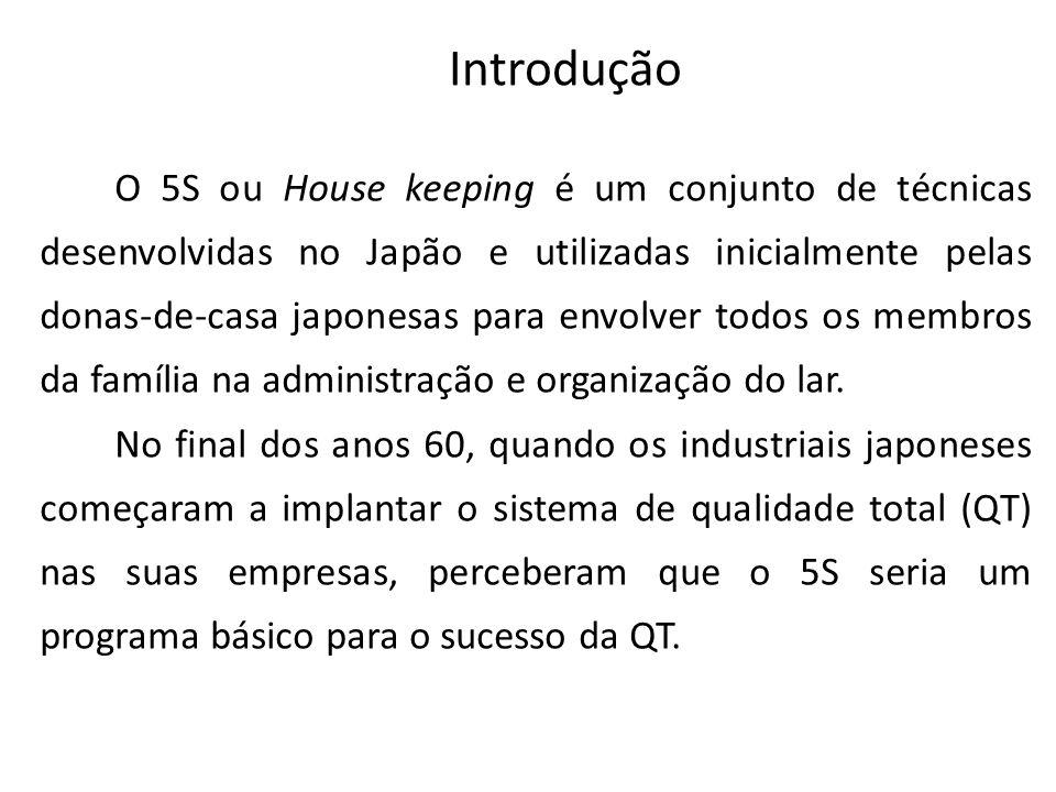 O 5S ou House keeping é um conjunto de técnicas desenvolvidas no Japão e utilizadas inicialmente pelas donas-de-casa japonesas para envolver todos os