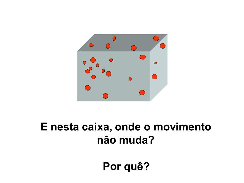 E nesta caixa, onde o movimento não muda? Por quê?