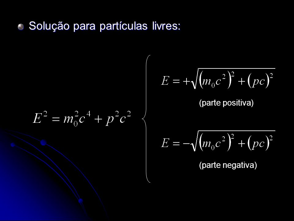 Conseqüências da descoberta do pósitron Revisão do conceito de ELEMENTAR Revisão do conceito de ELEMENTAR o conceito de partícula elementar passou por um profundo processo de revisão, culminado no entendimento que estas partículas não são necessariamente imutáveis e indestrutíveis.