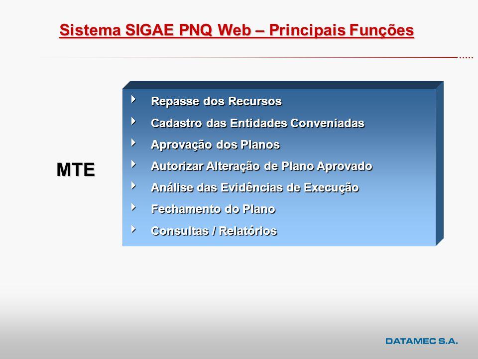 CICLO PNQ – Áreas de Atuação Planejamento Execução Acompanhamento Prestação de Contas ao MTE Repasse de Recursos às Conveniadas - MTE Inserção do plan
