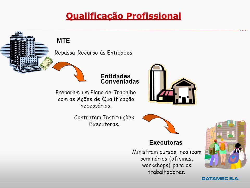 Sistemas x Entidades Usuárias SIGAE PNQ Web MTE Conveniadas Conveniadas Instituições Executoras contratadas Instituições Executoras contratadas SIGAE Executora Instituições Executoras contratadasInstituições Executoras contratadas Conveniadas quando atuam no papel de executoras das Ações de QualificaçãoConveniadas quando atuam no papel de executoras das Ações de Qualificação SIGAE Secretarias de Trabalho Estaduais – PlanTeQ