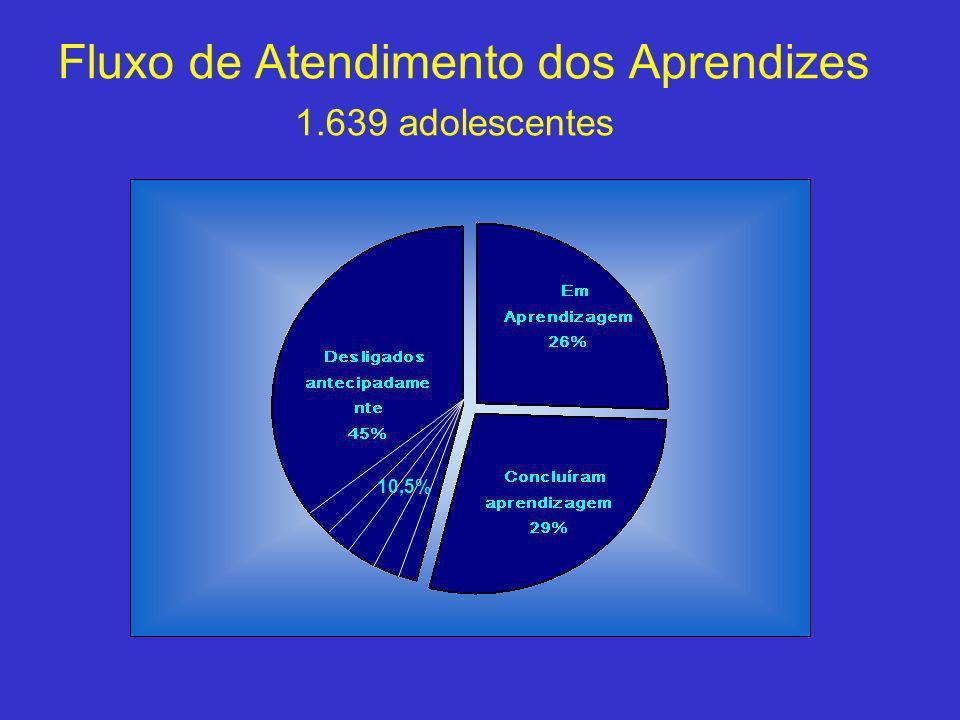 Fluxo de Atendimento dos Aprendizes 1.639 adolescentes 10,5%