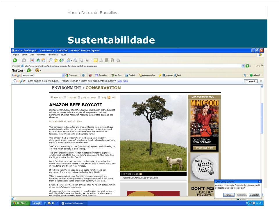 Sustentabilidade Marcia Dutra de Barcellos