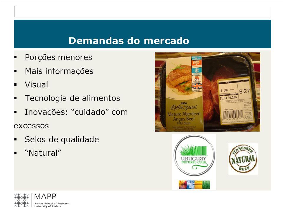 Porções menores Mais informações Visual Tecnologia de alimentos Inovações: cuidado com excessos Selos de qualidade Natural Demandas do mercado