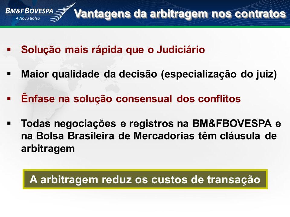 Solução mais rápida que o Judiciário Maior qualidade da decisão (especialização do juiz) Ênfase na solução consensual dos conflitos Todas negociações