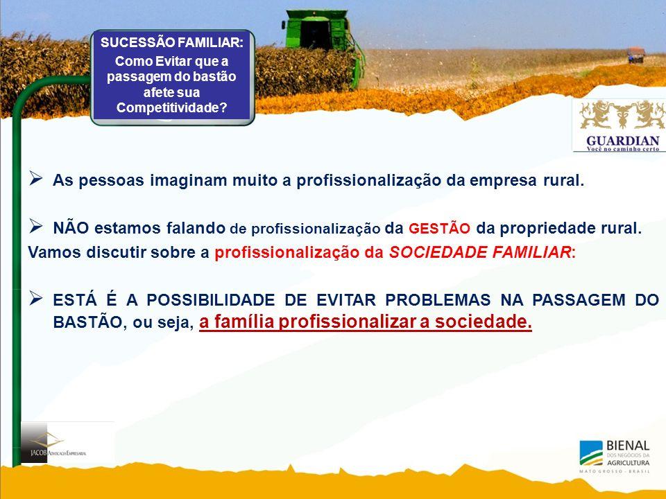 As pessoas imaginam muito a profissionalização da empresa rural.
