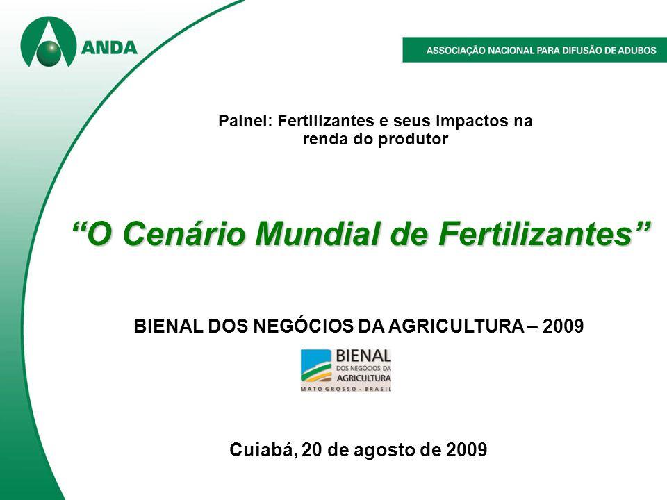 O Cenário Mundial de Fertilizantes BIENAL DOS NEGÓCIOS DA AGRICULTURA – 2009 Cuiabá, 20 de agosto de 2009 Painel: Fertilizantes e seus impactos na renda do produtor