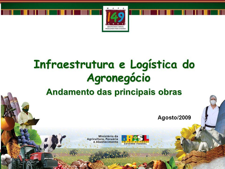 Ferrovia Norte-Sul Guaraí Palmas Colinas do Tocantins a Guaraí (TO ) 116 km - 100% concluídos Tem 2 linhas ferroviárias e necessita de 6 linhas.