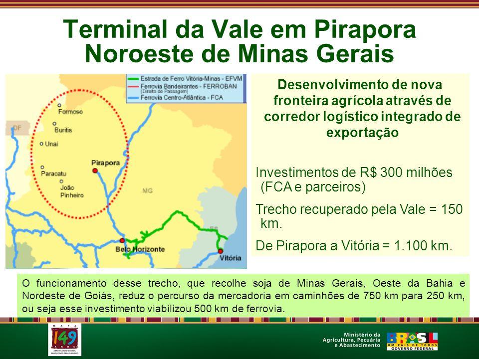 Terminal da Vale em Pirapora Noroeste de Minas Gerais Desenvolvimento de nova fronteira agrícola através de corredor logístico integrado de exportação