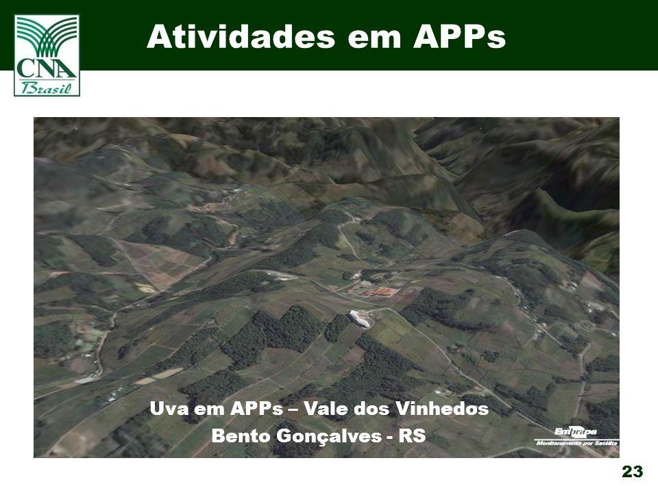 23 Atividades em APPs Uva em APPs – Vale dos Vinhedos Bento Gonçalves - RS
