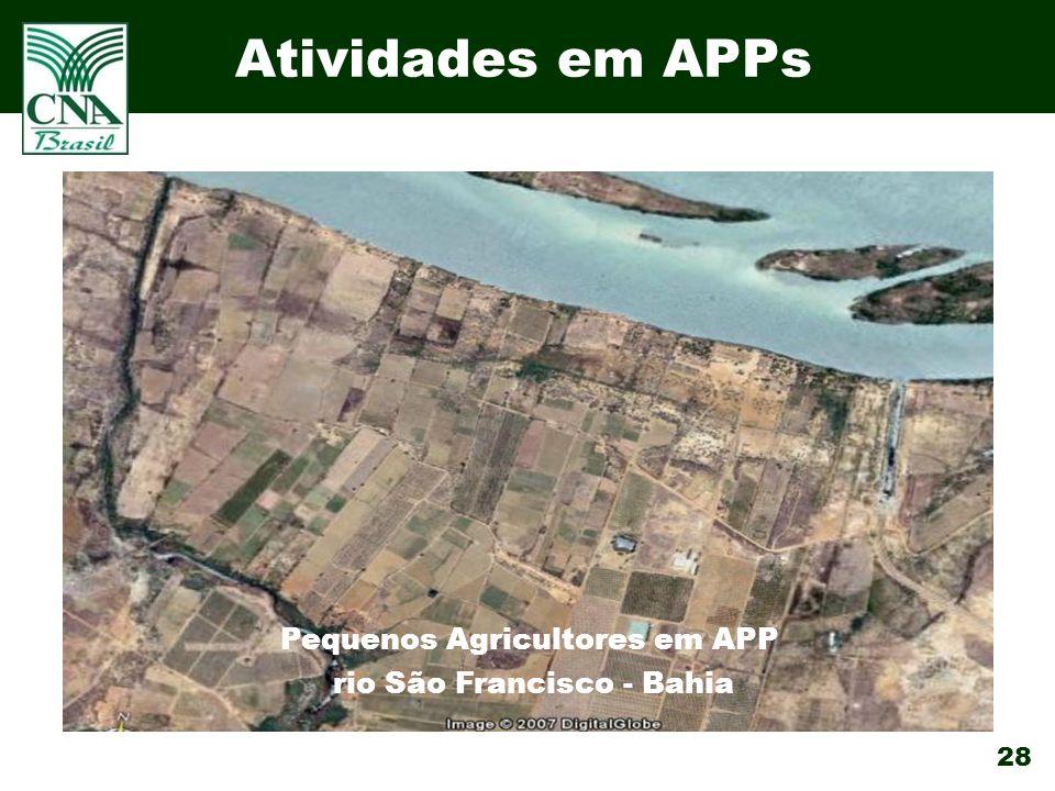 28 Atividades em APPs Pequenos Agricultores em APP rio São Francisco - Bahia