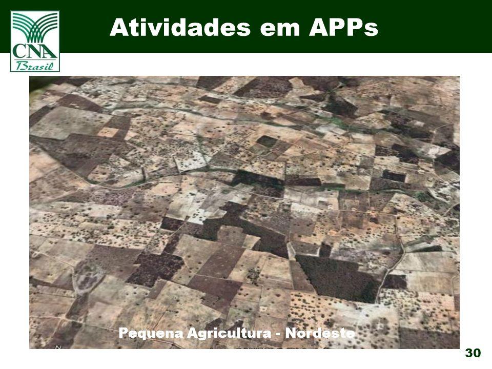30 Atividades em APPs Pequena Agricultura - Nordeste