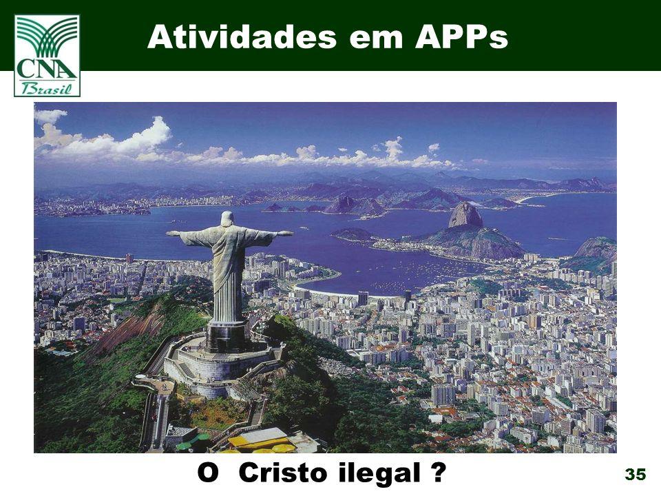 35 Atividades em APPs O Cristo ilegal ?