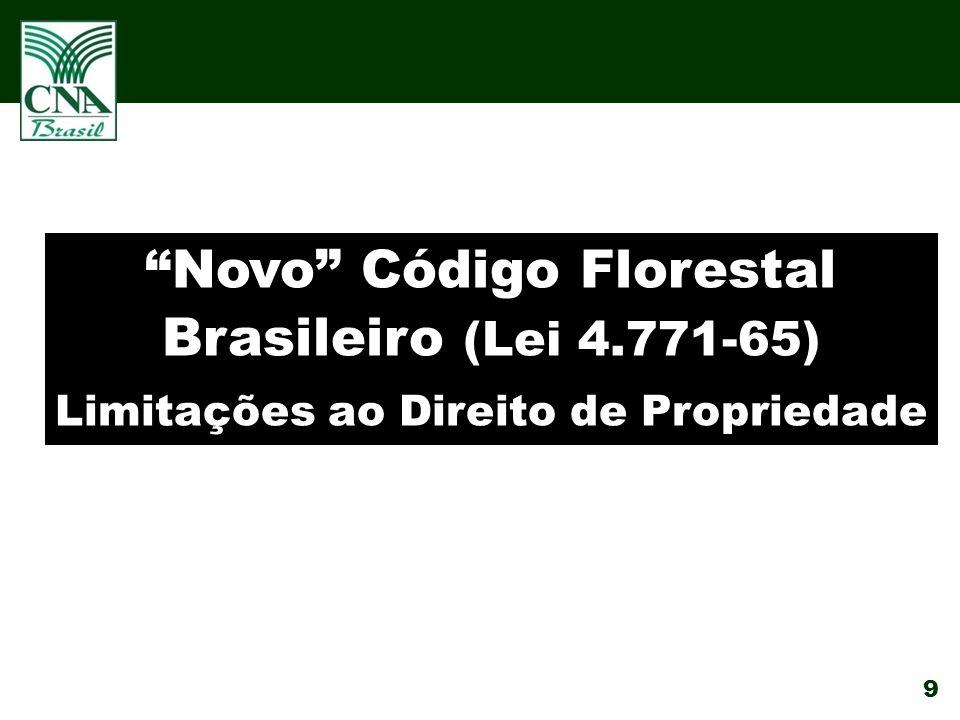 9 Novo Código Florestal Brasileiro (Lei 4.771-65) Limitações ao Direito de Propriedade