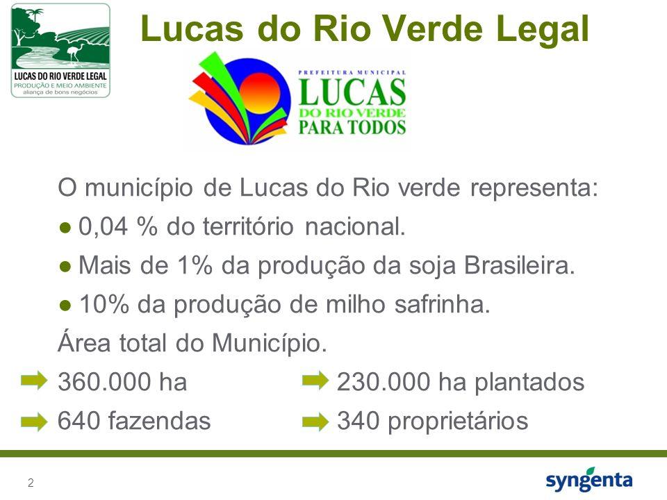 2 Lucas do Rio Verde Legal O município de Lucas do Rio verde representa: 0,04 % do território nacional.
