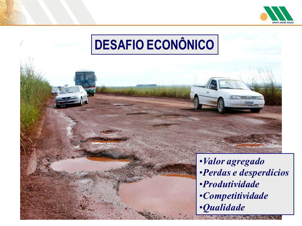 Valor agregado Perdas e desperdícios Produtividade Competitividade Qualidade DESAFIO ECONÔNICO