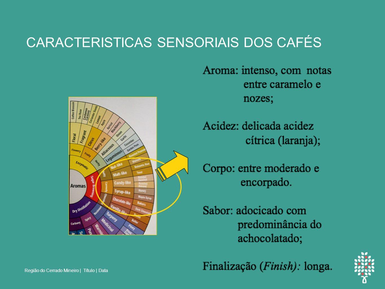 Região do Cerrado Mineiro | Título | Data CARACTERISTICAS SENSORIAIS DOS CAFÉS