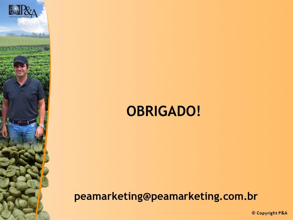 © Copyright P&A OBRIGADO! peamarketing@peamarketing.com.br