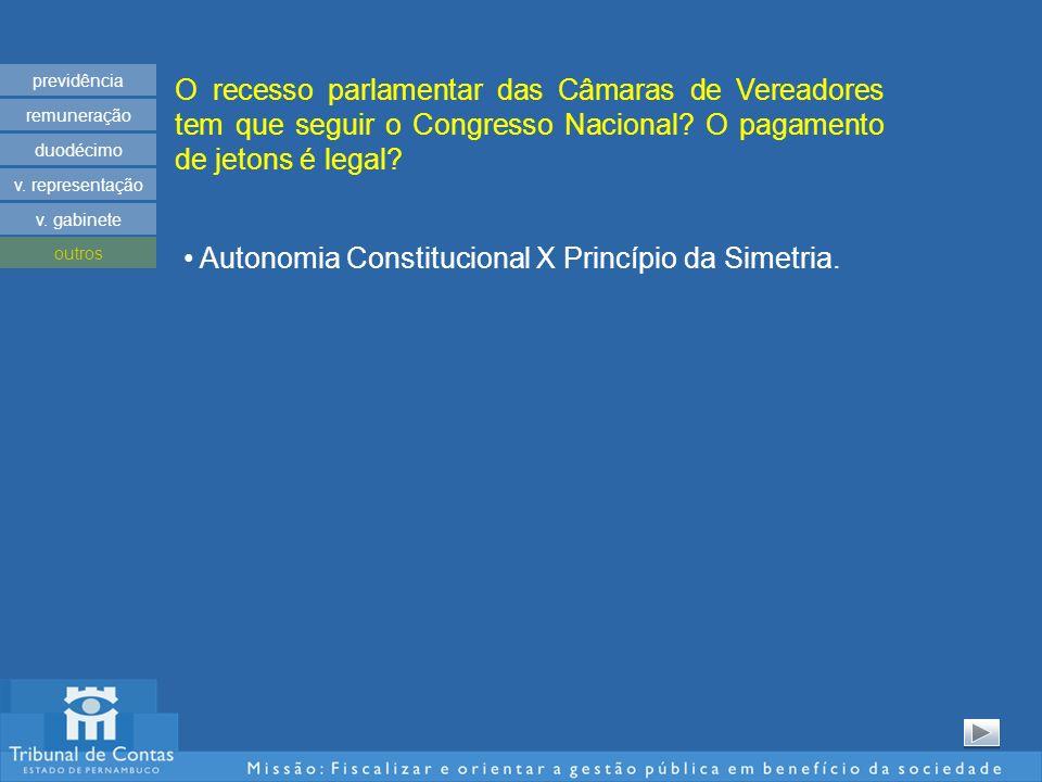 O recesso parlamentar das Câmaras de Vereadores tem que seguir o Congresso Nacional.
