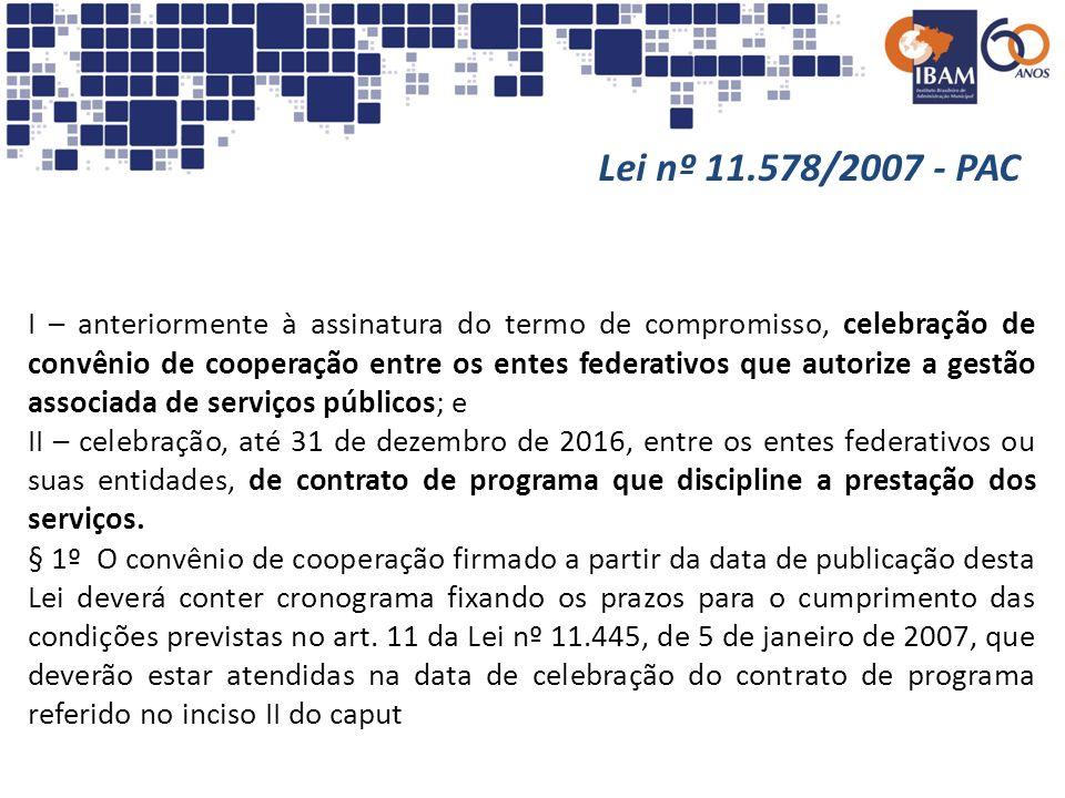 I – anteriormente à assinatura do termo de compromisso, celebração de convênio de cooperação entre os entes federativos que autorize a gestão associad
