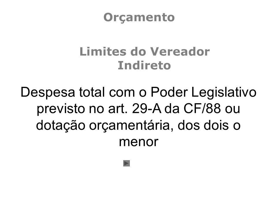 Despesa total com o Poder Legislativo previsto no art.