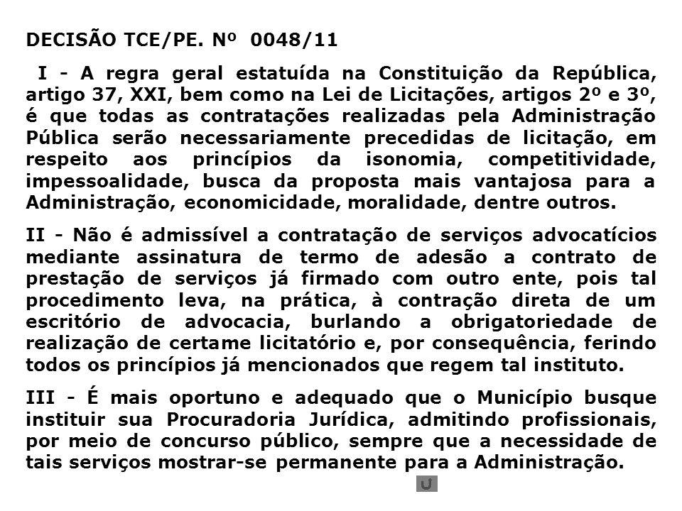 DECISÃO TCE/PE.