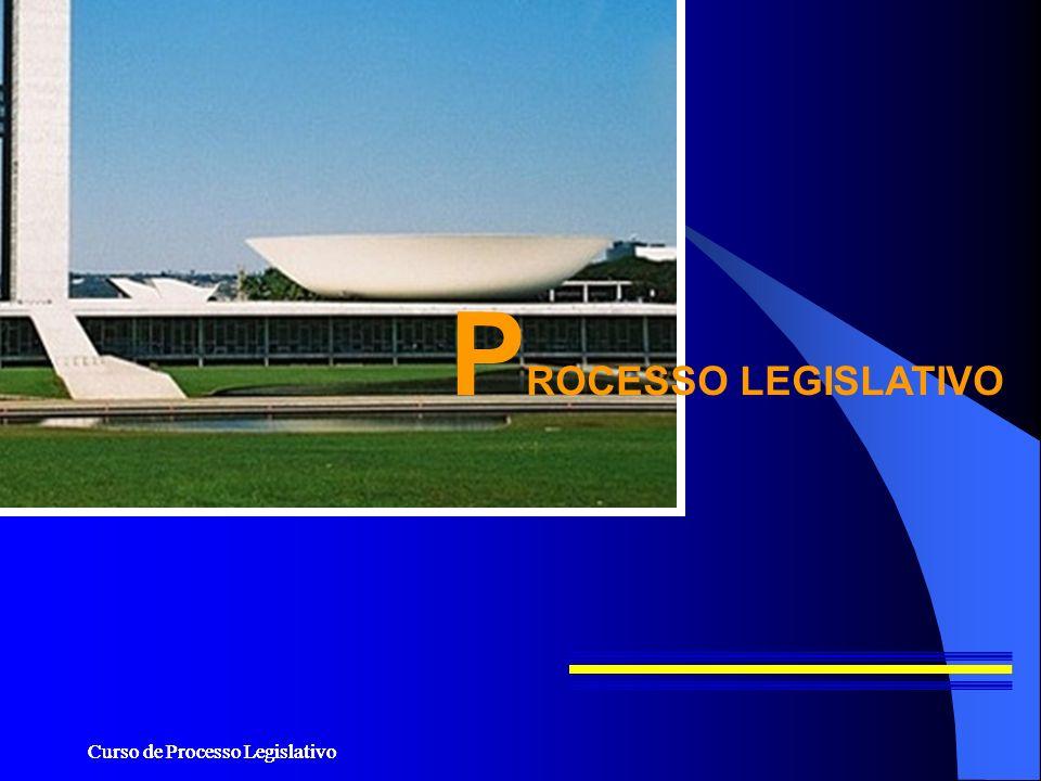 Curso de Processo Legislativo P ROCESSO LEGISLATIVO
