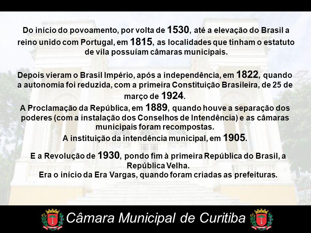 Do início do povoamento, por volta de 1530, até a elevação do Brasil a reino unido com Portugal, em 1815, as localidades que tinham o estatuto de vila