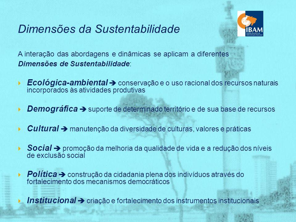 Abordagens da Sustentabilidade Ética, na qual se destaca o reconhecimento de que no almejado equilíbrio ecológico está em jogo mais do que um duradour