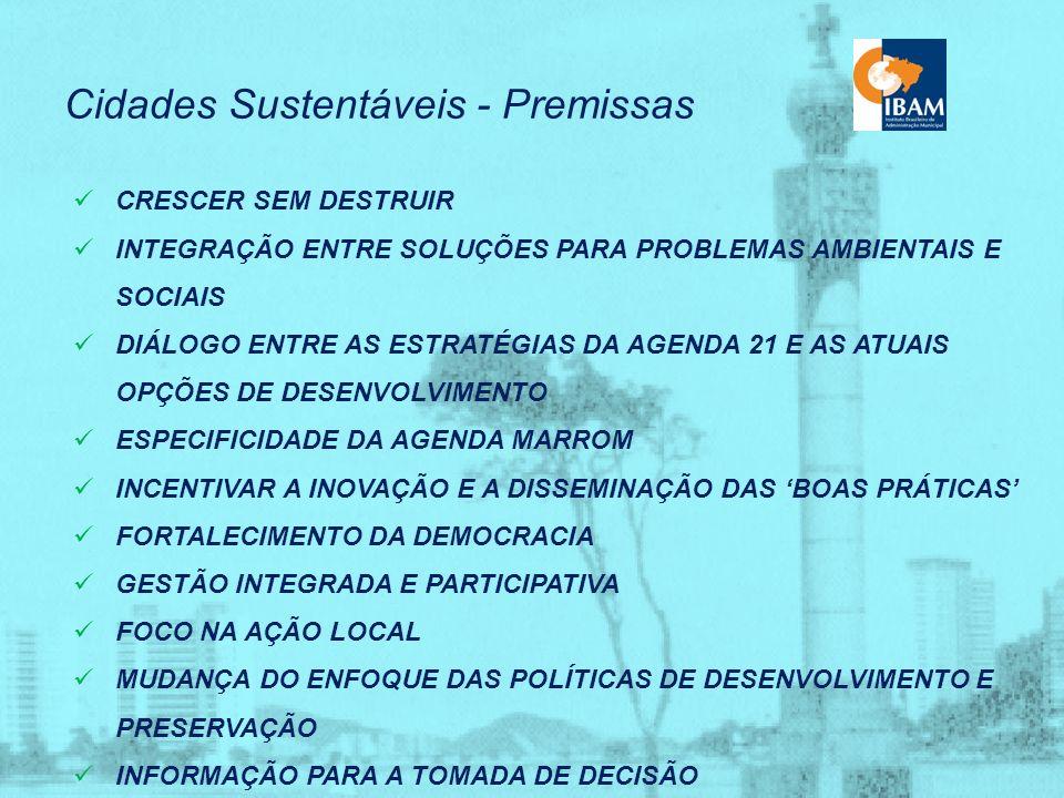 Cidades Sustentáveis - Novos Marcos Mudança de escala Incentivar o surgimento de cidades menores - preferência por projetos de menor custo e de menor