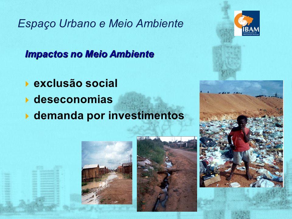 Espaço Urbano e Meio Ambiente Nossos Problemas comuns lançamentos de efluentes área sujeita a deslizamentos área sujeita à inundação erosão lixão gleb