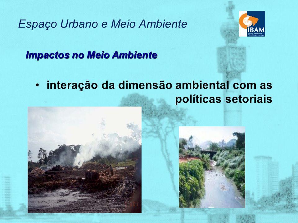 Espaço Urbano e Meio Ambiente Impactos no Meio Ambiente exclusão social deseconomias demanda por investimentos
