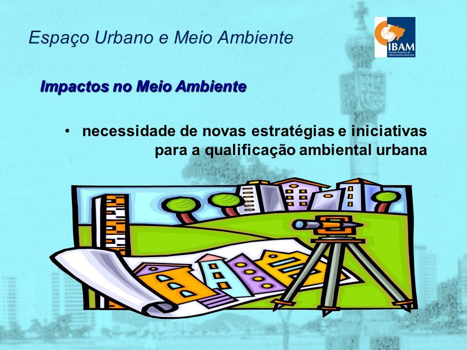 Espaço Urbano e Meio Ambiente Impactos no Meio Ambiente interação da dimensão ambiental com as políticas setoriais