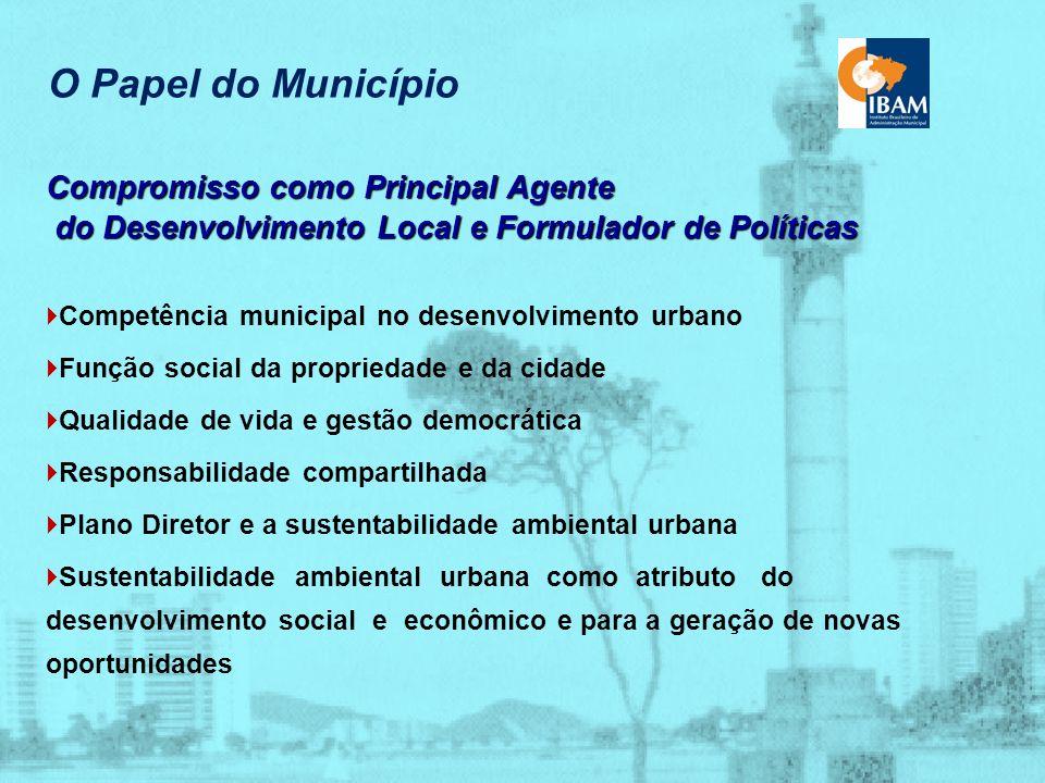 Espaço Urbano e Meio Ambiente Premissas para os Processos de Planejamento Urbano desenvolver sem destruir integração das dimensões ambiental, social e