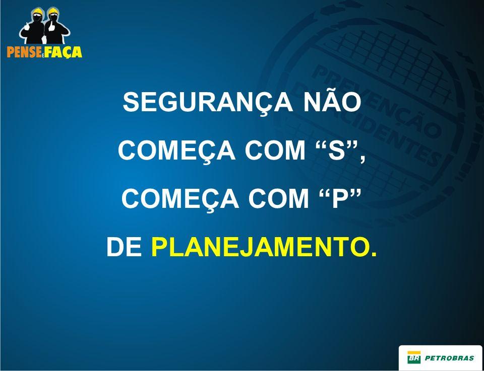 SEGURANÇA NÃO COMEÇA COM S, COMEÇA COM P DE PLANEJAMENTO.