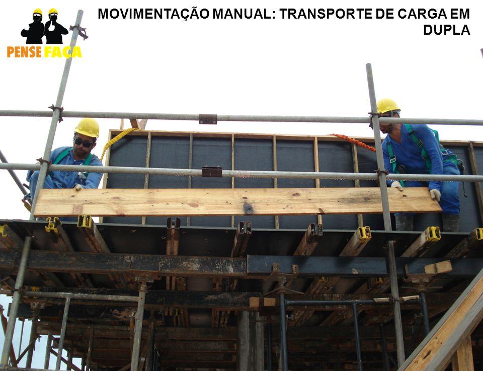 MOVIMENTAÇÃO MANUAL: TRANSPORTE DE CARGA EM DUPLA