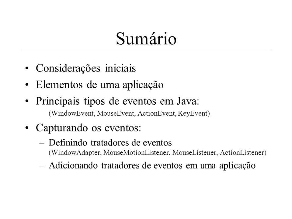 Tutorial II: Tratando eventos em Java