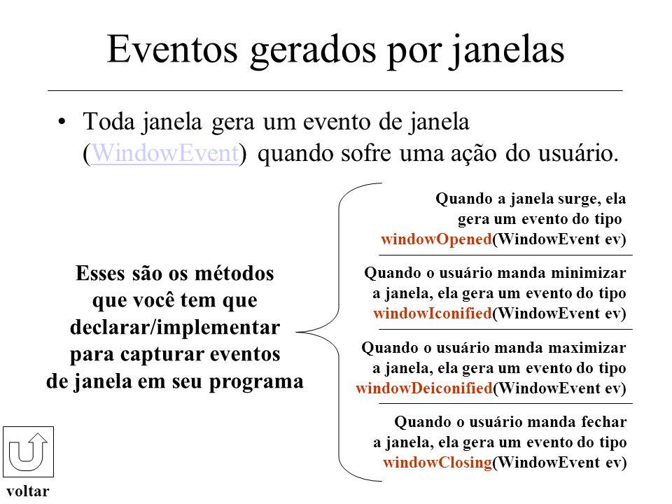 Para ver um exemplo de aplicação que define e utiliza tratadores de eventos clique aqui ! clique aqui Neste tutorial você... Aprendeu quais são os ele