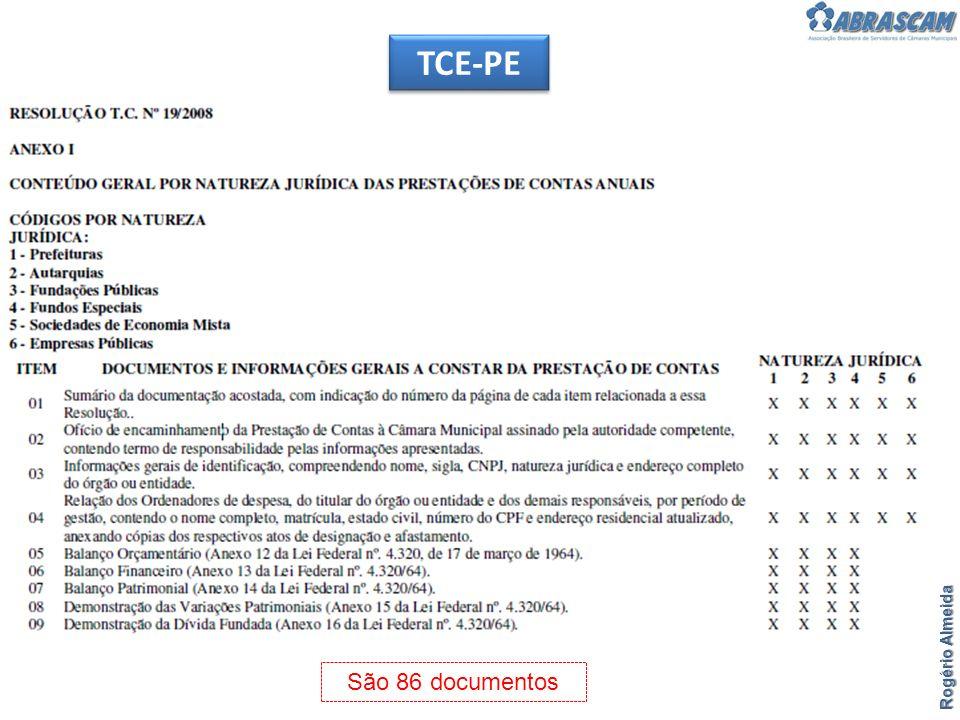 Rogério Almeida TCE-PE São 86 documentos