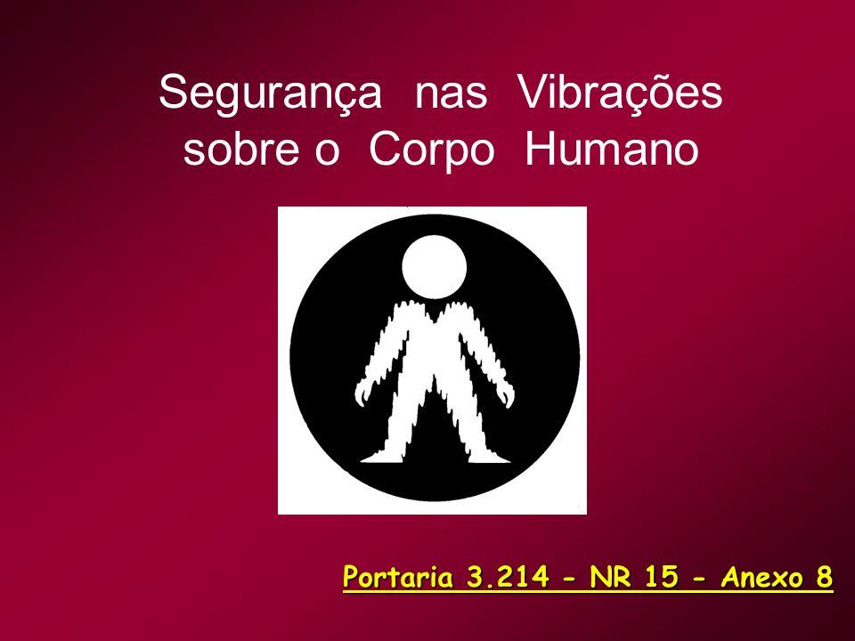 Segurança nas Vibrações sobre o Corpo Humano Portaria 3.214 - NR 15 - Anexo 8