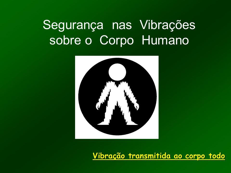 Segurança nas Vibrações sobre o Corpo Humano Vibração transmitida ao corpo todo