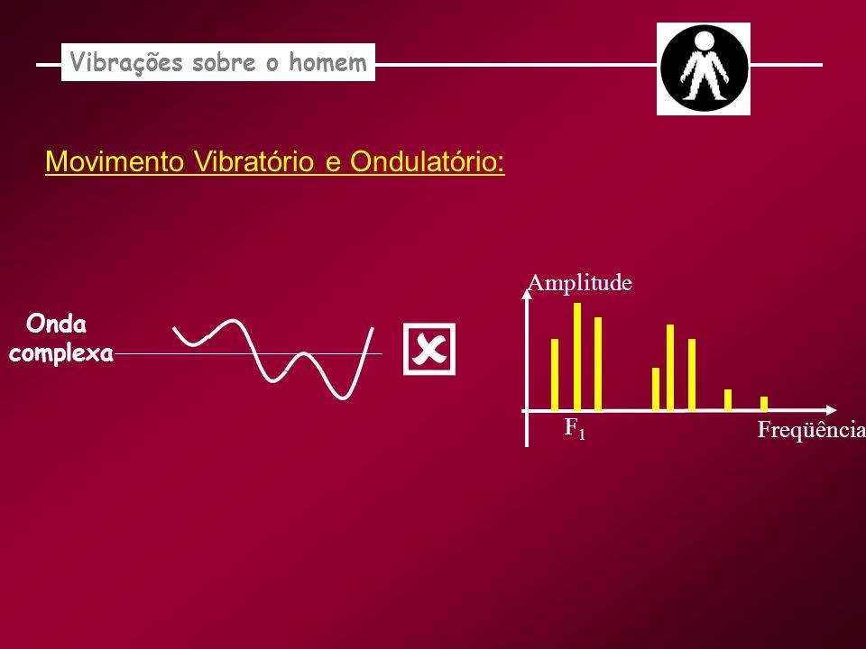 Vibrações sobre o homem Onda complexa F1F1 Amplitude Freqüência Movimento Vibratório e Ondulatório: