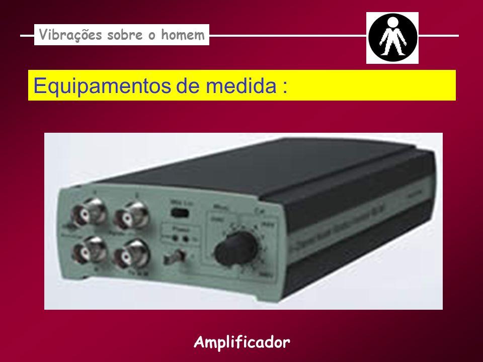 Equipamentos de medida : Vibrações sobre o homem Amplificador