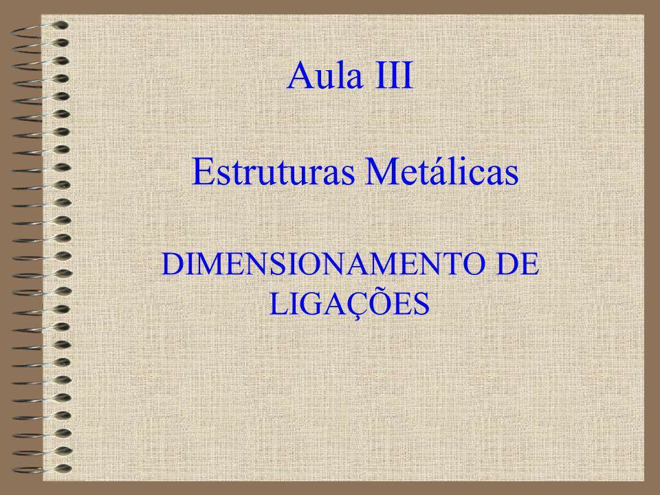 Apresentação da aula 1.Dimensionamento de ligações soldadas 2.