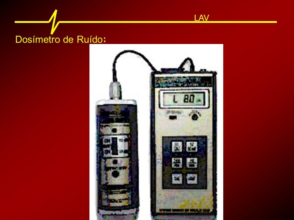 Dosímetro de Ruído : LAV Os Dosímetros de Ruído proporcionam o método mais preciso de medir o Nível Médio de Ruído em um determinado local.