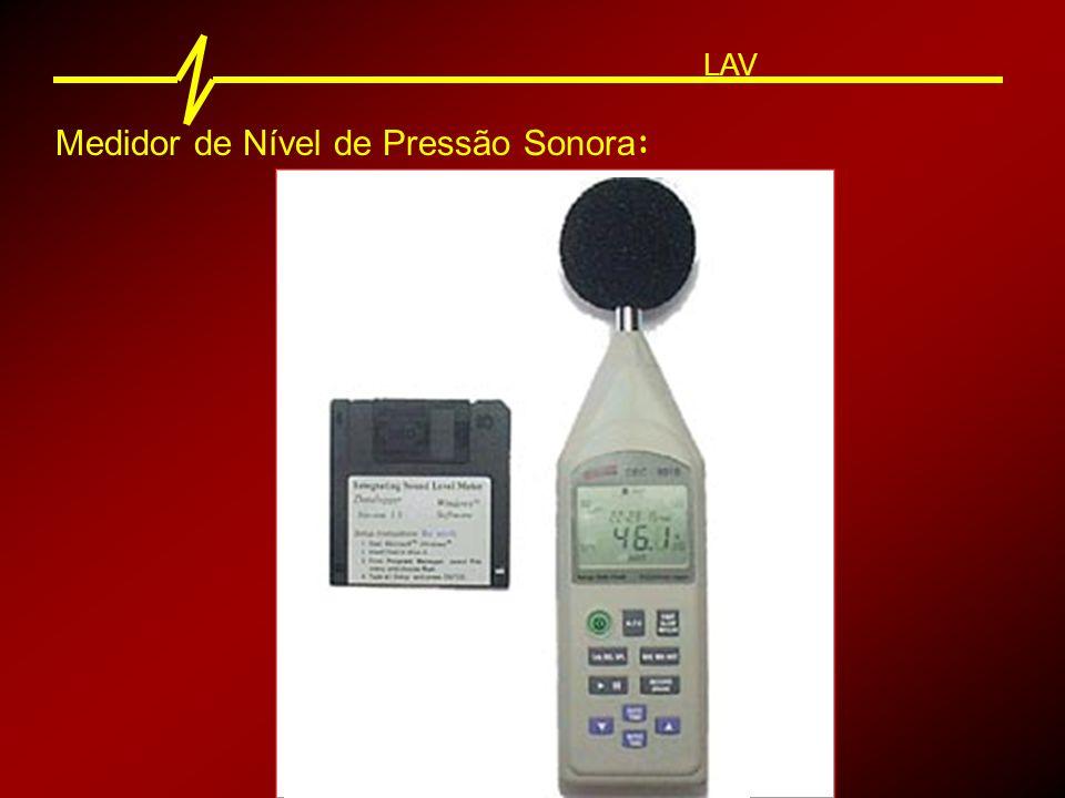 Medidor de Nível de Pressão Sonora : LAV